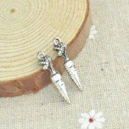 Wholesale Wholesales Resale - Wholesale 100pcs lots alloy antique metal charm tibetan silver style carrot pendant fit jewelry making Z42563 jewelry resale