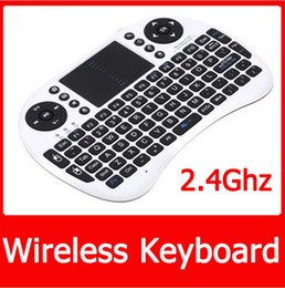 Wholesale Slim Box Pc - Mechanical Keyboard Rushed Sale Slim Mi Box Mini Portable Mini Keyboard Rii I8 Wireless with Touchpad for Pc Pad Google Andriod Tv Box 2015