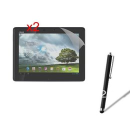 Wholesale Asus Pad Pen - Wholesale-2x New LCD Clear Grossy Screen Protector Film Films Guards + Stylus Touch Pen For Asus Transformer Pad TF300T TF300 TF301