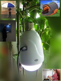Wholesale Buy Party Lights - Buy-1-get-2 Solar Power Round-head LED Bulb 2 in 1 LED Light powered by AC DC Solar with solar powerbank 4PCS LOT 1001-1