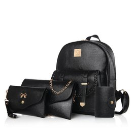 Wholesale Cheap Backpack Handbags - New style cheap price fashion bags women designer handbags 4pcs composite bags designer backpacks crossbody shoulder bags totes wallet