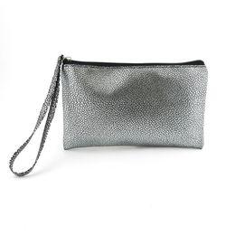 Wholesale Cheap Silver Clutch Purses - Wholesale-Fashion silver color day clutch cheap woman wallet coin purse