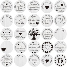 Wholesale Floating Charms For Lockets - Wholesale-20pcs lot Mix Design Stainless Steel Floating Locket Back plate Floating Plate For Living 30mm Locket
