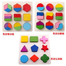 Wholesale Wooden Hot Blocks - Baby Kids Wooden Learning Educational Toy montessori Geometry Block Early Toys Hot Selling