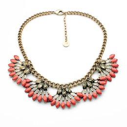 Wholesale necklace exotic - Wholesale-coral cay necklace *Stella* high fashion n457c dot exotic bijou collar collier colar gold ouro gift for mujer necklace choker