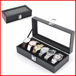 Wholesale Display Showcase Jewelry - 6 Slot Luxury Watch Box Display showcase Watches boxes Storage Cases Collection jewelry Storage Organizer Box case for wristwatch 230111