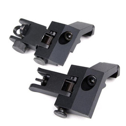 Wholesale Iron 45 - Funpowerland High quality Funpowerland Front and Rear flip up 45 Degree Rapid Transition Backup Iron Sight Free Shipping