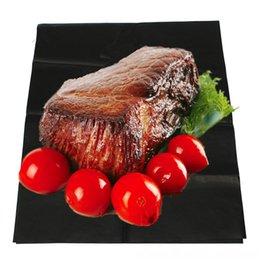 Wholesale Bbq Ceramic Grill - Wholesale- 40 x 100cm BBQ Liner Hotplate Non-Stick Barbecue Cooking Grill Baking Mat Sheet Outdoor Picnic Indoor Baking