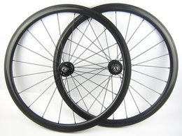 Wholesale Oem Road Bike Wheel Rims - OEM 38mm carbon track bike wheelset clincher tubular rims 20.5mm width fixed gear bicycle wheels
