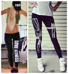 Wholesale Leggins Women Winter - Hot selling Winter Warm Women Sports Legging Pants Work out Printed Black Casual Sexy Bottom Fitness Leggings Leggins Pants Plus Size