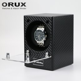 Wholesale Single Watch Display - Wholesale- Jebely New Arrival Black Watch Winder for automatic watches Automatic Single Watches box Jewelry Watch Display Box JA082KM
