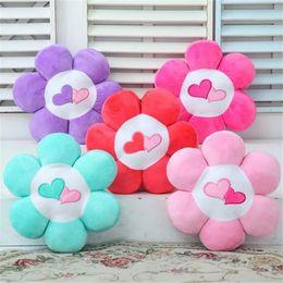 Wholesale Petal Car - Wholesale- 40CM One Piece PP Cotton Petal Plush Toy Cushion Car Flower Series Pillow With Two Love Sleeping Pillows Valentine Gift 5 Colors