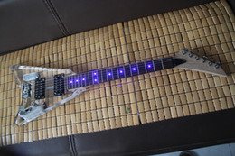 Wholesale Acrylic Bass - Free shipping 2017 new Electric bass transparent acrylic plexiglass LED lights blue lights guitar