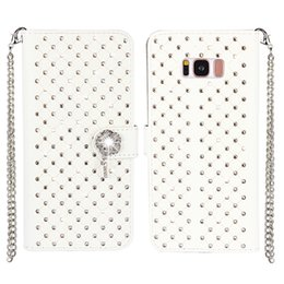 Wholesale Galaxy S3 Bling Wallet Case - Bling Rhinestone Diamond Leather Flip Wallet Case Cover For Samsung Galaxy S8 S8 Plus S7 S6 Edge S5 S4 S3 Stand Card Holder Phone Case