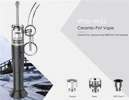 Wholesale Wax Pots - Electric CPENAIL 1100mah portable wax pen CPhenail H nail dab rig with Pot material Ceramic Quartz nail GR2 pure Ti E nail kits