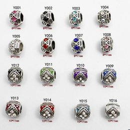 Wholesale Black Pandora Beads - 16 kinds Fit Pandora Charms Bracelets Original Beads 925 Sterling Silver Beads European DAISY SILVER CHARM WITH CUBIC ZIRCONIA