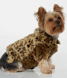 Wholesale Name Brand Accessories Wholesale - Wholesale-name brand dog fleece coat leopard print luxury doggie puppy warm jacket with crown rhinestones XS to XXL