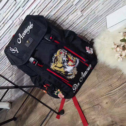 Wholesale Mens Tote Bag Zipper - Canvas mens backpack shoulder bag large capacity Brand travel bag school bag 429037 top hot fashion classic male famale Embroidered