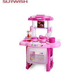 Wholesale pretend play kitchens - Wholesale- Surwish RX1800-1 Children Cooking Play Kitchen Toys Pretend & Play Baby Kids Home Educational Toy