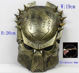 Maschera di halloween del viso del ferro online-horror Paintball Mask avpr lone Wolf Iron Airsoft BB Gun e Army maschera airsoft mascara spaventoso
