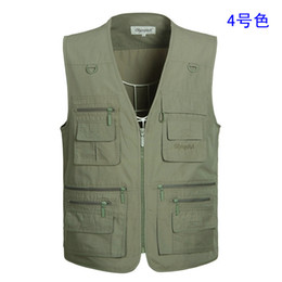 Wholesale Photography Men - Fall-Spring middle-aged men's vest new men outdoor leisure multi fertilizer fishing waistcoat pocket Director of Photography