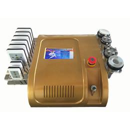 Wholesale Diode Laser Cavitation - Gold Color Lipo laser 40k Cavitation diode laser 635nm 650nm Lipo Laser Multipole RF Vacuum Fat Cellulite Slimming