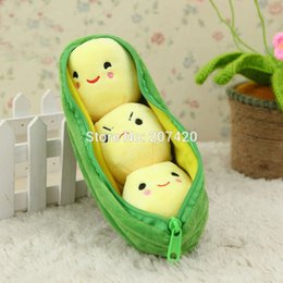 Wholesale Girlfriend Cushion - Wholesale- 10inch Cute Kawaii Kids Baby Plant Pea Plush Toy Doll Girlfriend Kawaii Gift,1pcs pack