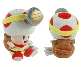 """Wholesale Mario Toad Dolls - Free Shipping Super Mario Captain Toad Treasure Tracker Plush Toys Stuffed Dolls With Tag 7.5"""" #1"""