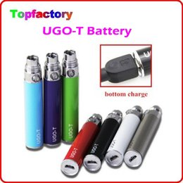 Wholesale Ego Cigarette Colorfull - NEW E Cig UGO-T Battery 650mah 900mah 1100mah E Cigarette UGO T Charged by Android Cable USB Passthrough Colorfull Upgraded eGo-T Battery