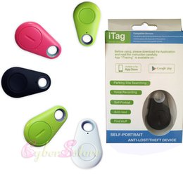 Wholesale Gps Tracker Control Alarm - Mini Smart iTag Bluetooth Anti-lost Alarm GPS Tracker Locator Remote control shutter(self-portrait) parking site search for iPhone Android