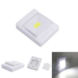 Wholesale Magic Tree Wholesale - Magnetic LED Night Light Ultra Bright Mini COB Wireless Wall Light with Switch Magic Tape for Camp Lamp Indoor