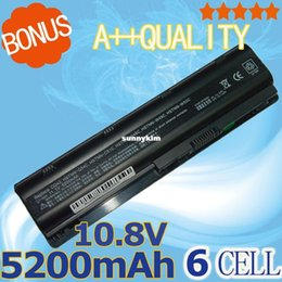 Wholesale Hp Pavilion G72 - BEST- 5200mAh Battery for HP Pavilion DV3 DM4 DV5 DV6 DV7 G4 G6 G7 for Compaq Presario CQ42 CQ32 G42 G62 G72 MU06 593553-001