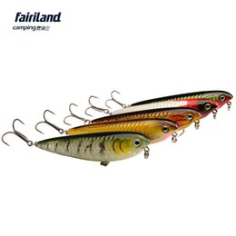 Wholesale Rattle Lures - FLOATING Pencil Bait 11cm(4.3in) 24g(9 10 oz) topwater lure pencil w  internal cadence rattles hard bait K-E 10pcs lot