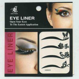 Wholesale Tattoo Liner Diy - Wholesale-Women Girl Eye Liner Temporary Tattoo Eye Art DIY Decorations Waterproof Shadow Eyeliner Stickers Beauty Makeup Tools TT-0098
