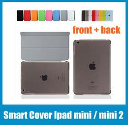 Wholesale Ipad Air Smart Cover Colors - Ipad Smart Cover Magnetic Sleep Wake PU Leather Case+ Crystle Hard Back Case 8 Inch For Ipad mini Ipad mini 2 Various Colors PCC010