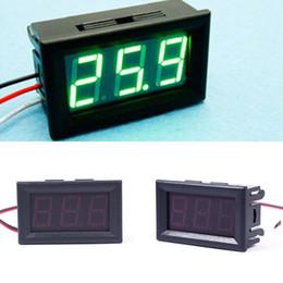 Wholesale Voltmeter Green - Hot DC 0-30V Voltmeter Green LED Panel 3-Digital Display Volt Voltage Meter#55836