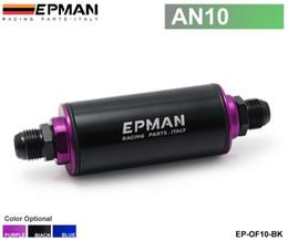 Epman fuel on-line-EPMAN Filtro de combustível com filtro de aço (AN10) (preto, roxo, azul) com 100 mícrones de aço SS de elemento Universal alta pressão EP-OF10