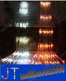 Wholesale Waterfall Curtains Lights - Led Waterfall String Curtain Light 6m * 3m 640 Leds Water Flow Christmas Wedding Party Holiday Decoration Fairy String Lights MYY3468A
