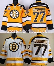 9224a0599 2015 Cheap Mens Boston Bruins  77 Ray Bourque Jersey 2010 Winter Classic  Yellow Old Style Vintage White Stitched Hockey Jerseys Shirt