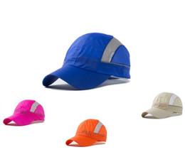 Wholesale Women Summer Anti Uv Hat - Outdoor Sport Baseball Cap Summer Men Women Quick Dry Hat Anti-UV Snapback Adjustable Snap Back Solid Hats Blue
