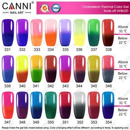Wholesale Chameleon Nail Gel - 10pcs*7.3ml 50801X New Arrival Free Shipping CANNI 7.3ml Color Mood Changing Thermal Chameleon UV Nail Gel Polish