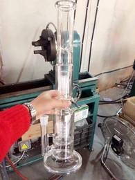 2017 New Oil Rigs Bong di Vetro Grande Tubo di Acqua Vaso di trasporto libero Perc Percolatore Fumatore Piper 18mm Giunti Spessi Braccia 45 CM Altezza da