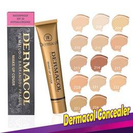 Wholesale Face Creams - Dermacol Concealer Foundation Make Up Cover 13 colors Primer DC Concealer Base Professional Face Dermacol Makeup Contour Palette Makeup Base