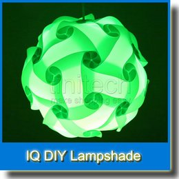 Wholesale Diy Ceiling Pendant - DIY Modern Pendant Ball Novel IQ Lamp Jigsaw Puzzle Pendants Colorful Pendant Lights LED DIY Adjustable Chandelier Ceiling Lamp