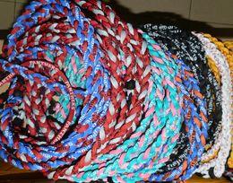 Wholesale Mexican Baseball - NEW arrivaling hot sell 100pcs Wholesale - titanium braided 3 ropes necklace tornado SPORTS football baseball new tornado necklace