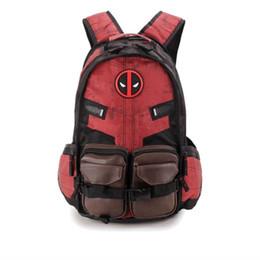 Wholesale superhero bags - New Deadpool Backpack Men Backpacks Superhero Bag Sport Backpack School Bag For Teenager Outdoor Backpack Multifunctional Package Knapsack