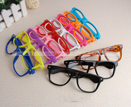 Wholesale Nerd Dress - Wholesale 20pcs lot Hot Clear Glasses Frames none lens Square Party Fancy Dress Big Nerd Unisex Men Women Gift