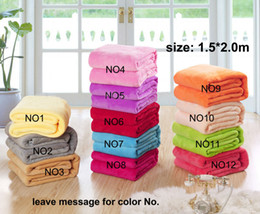 Wholesale Flannel Sheets - New 150*200cm 180*200cm 200*230cm 220*240cm Flano Flannel air sofa bedding solid color Blanket Throw bed sheet