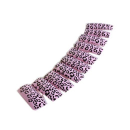 Wholesale leopard nail tips - Wholesale-2015 New Fashion 100pcs Beauty Leopard Pattern Fake False Acrylic Uv Gel Nail Art Tips