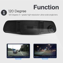 "Wholesale Korean Night Fashion - 2016 Fashion Full HD 1080P Rearview Mirror car dvr Cameras Dual Camera 4.3"" Dash Cam Recorder Dual Lens Video Camcorder DHL 010230"